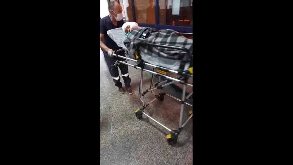 Menino, de 9 anos, é baleado no rosto por amigo na Zona Leste de SP — Foto: Reprodução/TV Globo