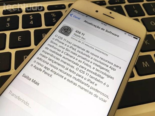 Aprenda a instalar o iOS 11 no iPhone ou iPad (Foto: Helito Bijora/TechTudo)