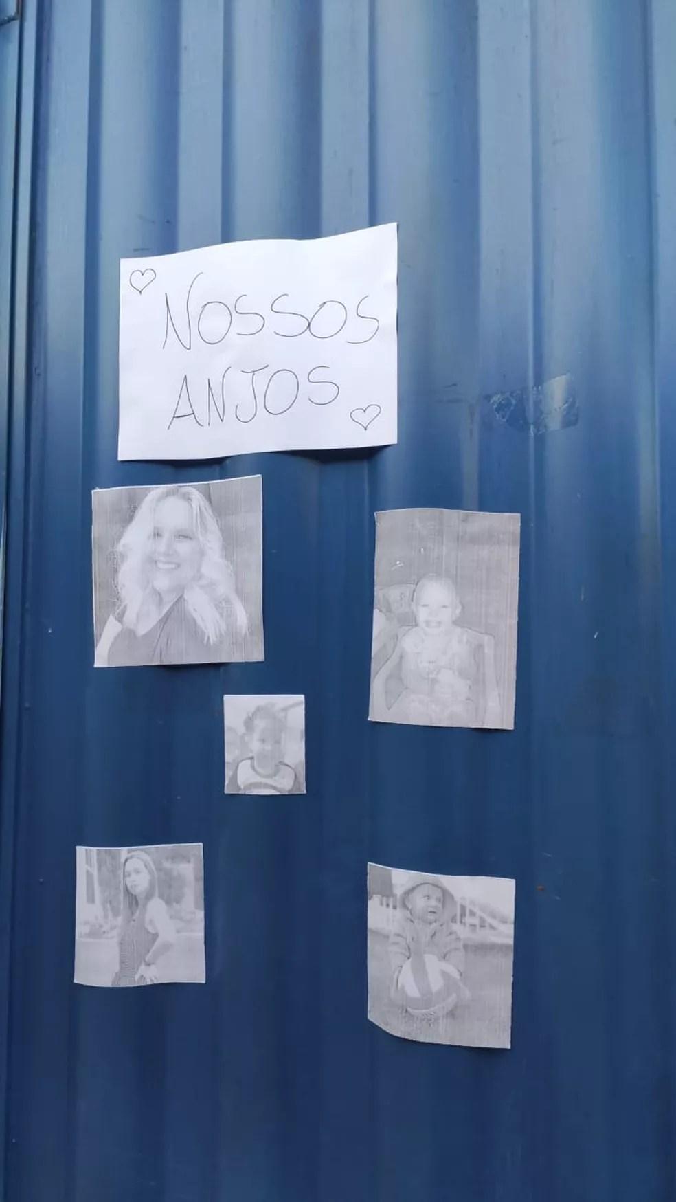 Fotos das vítimas assassinadas em creche de Saudades, SC — Foto: Vinícius Rigo/Divulgação
