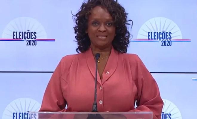 A candidata Major Denice (PT) no debate da TV Educadora — Foto: Reprodução / Youtube