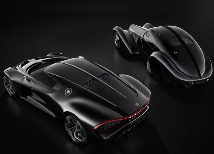 Bugatti La Voiture Noir e Type 57 SC Atlantic — Foto: Divulgação/Bugatti
