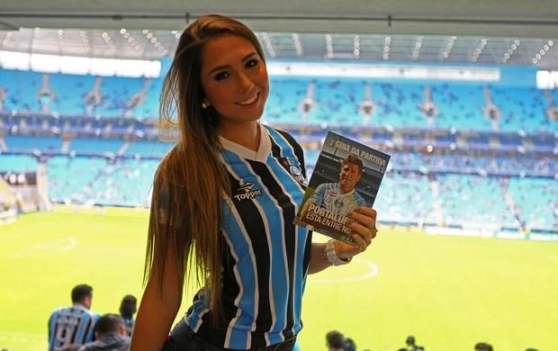 Carol Portaluppi Grêmio x Botafogo Renato Gaúcho (Foto: Lucas Uebel / Grêmio, DVG)
