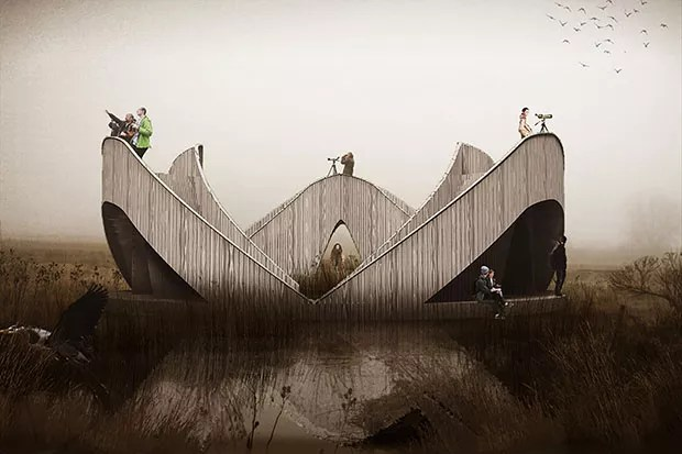 Escritório cria observatório escultural para parque da Letônia (Foto: Divulgação)
