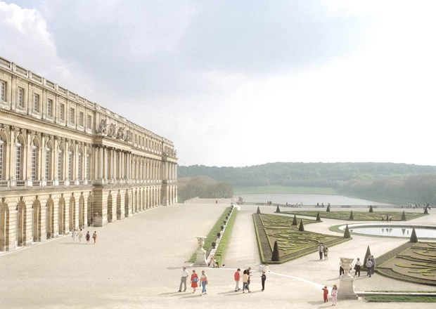 Versailles, 1985 (Foto: Courtesy Fototeca Biblioteca Panizzi, Reggio Emilia)