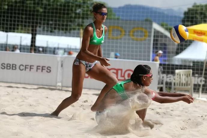 Duda e Elize Maia vôlei de praia Lucerna Suíça (Foto: FIVB/Divulgação)