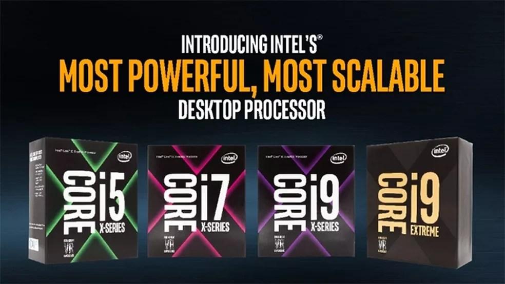 Série X não se restringe ao i9: há versões do Core i7 e até um Core i5 (Foto: Divulgação/Intel)