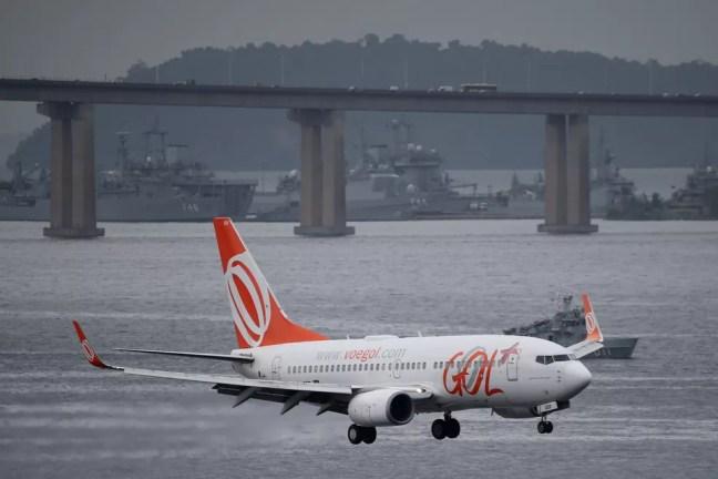 Avião da companhia aérea Gol  — Foto: Sergio Moraes/Reuters