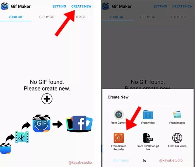 Inicie uma gravação de tela com o GIF Maker - GIF Editor (Foto: Reprodução/Paulo Alves)