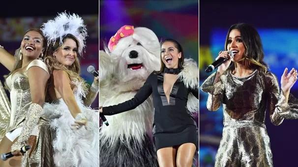 Gaby Amarantos e Cláudia Abreu, Priscila e Anitta e Manu Gavassi se apresentam no Show 50 Anos (Foto: Globo)