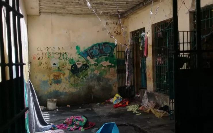 Motim se deu por causa da suspensão das visitas no local (Foto: Divulgação/Polícia Civil)