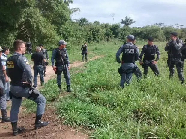 Polícia faz buscas na região de Cláudia para encontrar assaltante envolvido na morte de soldado em Sinop (Foto: Cleidinaldo José / GC Notícias)