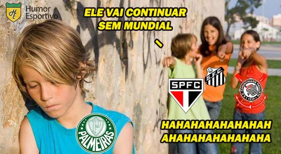 Zoeira nas redes sociais após eliminação do Palmeiras no Mundial — Foto: Reprodução/Twitter Humor Esportivo