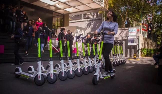 Scoo, novo serviço de patinete elétrica compartilhada que chegou em São Paulo (Foto: Divulgação/Scoo)