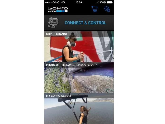 Conecte e controle a câmera pelo celular (Foto: Reprodução/Aline Jesus)