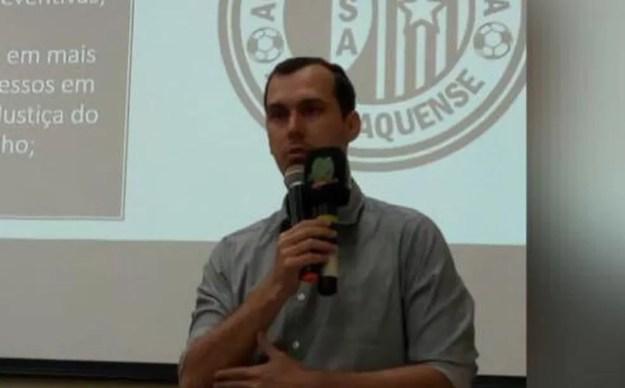 Higor Rafael, vice-presidente do ASA, fala sobre proposta de acordo trabalhista — Foto: Higor Rafael/Arquivo pessoal