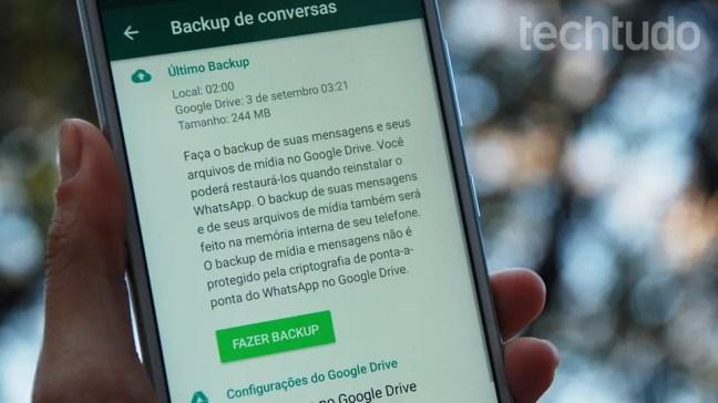 Usuários de WhatsApp têm uma semana para salvar seus arquivos no Android — Foto: Raquel Freire/TechTudo