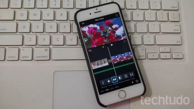 iMovie, editor de vídeos do iPhone, tem muitos recursos de edição (Foto: Lucas Mendes/TechTudo)