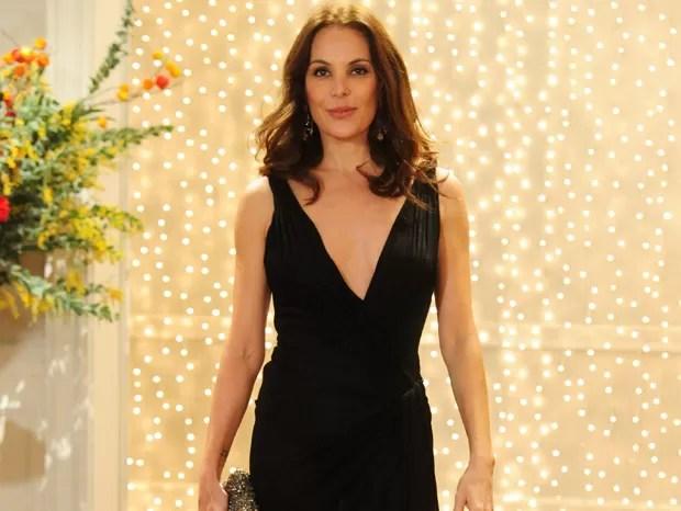 Carolina Ferraz vai participar de papo sobre o mercado de luxo (Foto: Encontro com Fátima Bernardes/ TV Globo)