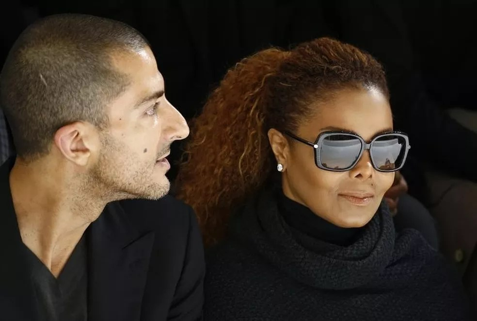 Janet Jackson e o marido, Wissam Al Mana, durante evento em Paris em 2015 (Foto: REUTERS/Benoit Tessier)