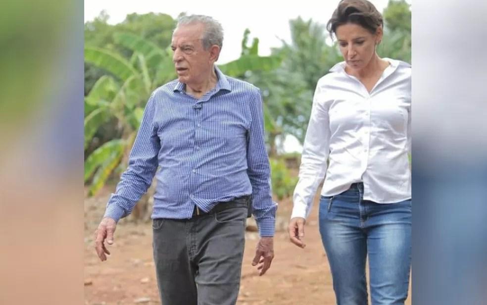 Ex-prefeito Iris Rezende e a filha Ana Paula Rezende em Goiás — Foto: Reprodução/Instagram