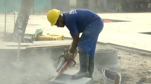Construção civil perdeu 144 mil vagas no Rio (Foto: Reprodução/TV Globo)