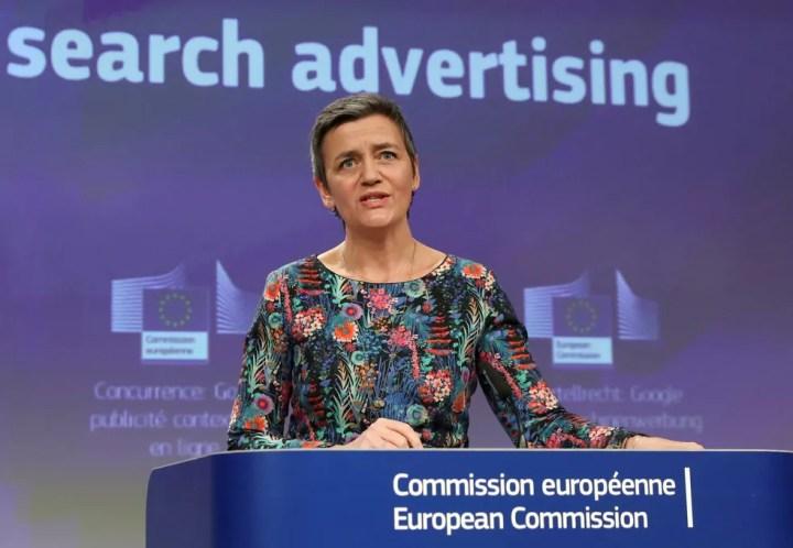 Margrethe Vestager, da Comissão Europeia de Concorrência — Foto: Yves Herman/Reuters