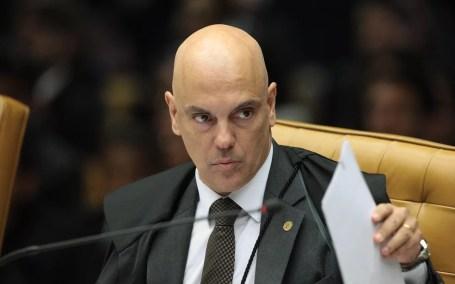 O ministro do STF, Alexandre de Moraes, durante julgamento no tribunal em abril (Foto: Carlos Moura/SCO/STF)