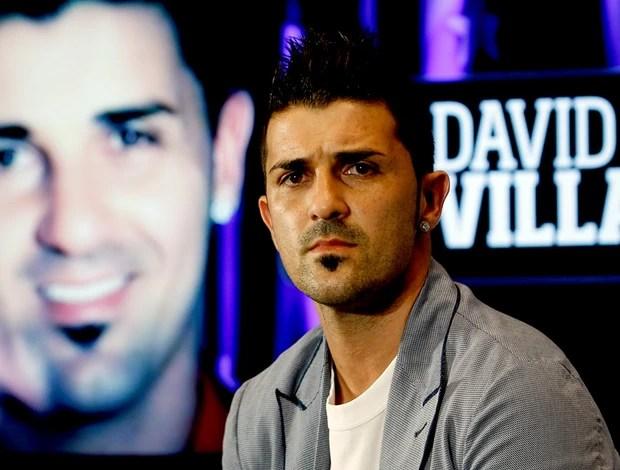David Villa apresentado no Atletico de Madri (Foto: AP)