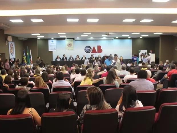 Ministro da saúde esteve em seminário na sede da OAB-PI (Foto: Ellyo Teixeira/G1)