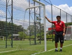 Haroldo Lamounier treinador de goleiros São Paulo (Foto: Rodrigo Mariano)