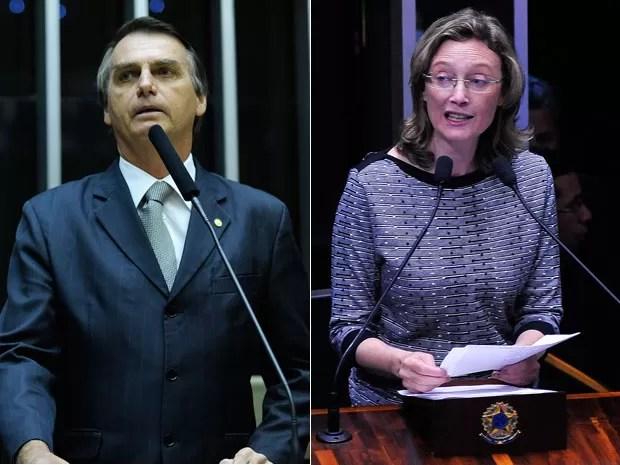 Jair Bolsonaro e Maria do Rosário, Foto: Gabriela Korossy e Luis Macedo / Câmara dos Deputados)