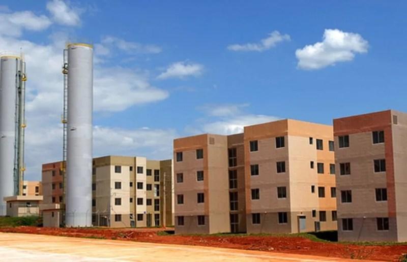 Construção erguida no Paranoá para atender beneficiários do programa Morar Bem — Foto: Dênio Simões/Agência Brasília