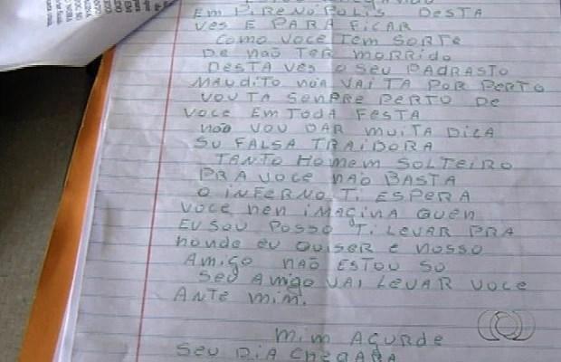 Loanne já foi agredida e ameaçada de morte em carta anônima em Goiás (Foto: Reprodução/TV Anhanguera)