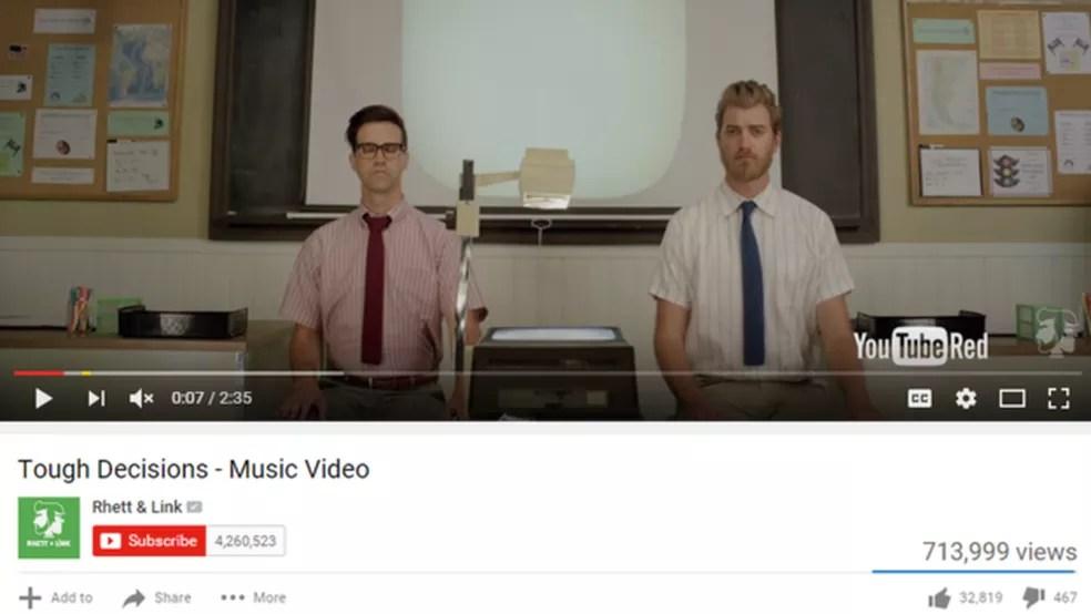 Rhett e Link (Foto: Reprodução/YouTube)