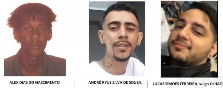 Divulgadas fotos de foragidos suspeitos de matar mulher que defendeu bebê e marido de bandidos — Foto: Polícia Civil / Divulgada