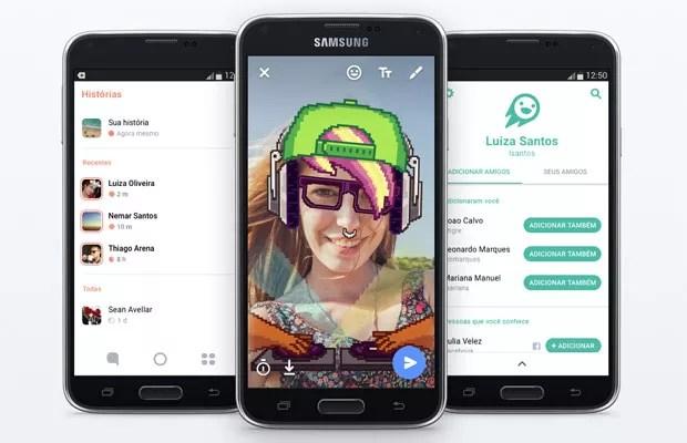 'Flash', app do Facebook, para enviar fotos e vídeos que se autodestróem e compartilhar conteúdo que some. (Foto: Divulgação/Facebook)