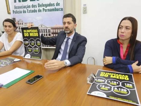 Associação de Delegados de Polícia de Pernambuco lançou campanha para mostrar a sociedade números da criminalidade em Pernambuco (Foto: Cleonildo Cruz/Divulgação)
