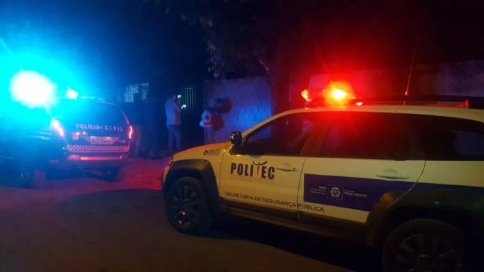 Sobrinho foi preso suspeito de matar a tia em Sorriso — Foto: Rafael Sousa/Portal Sorriso