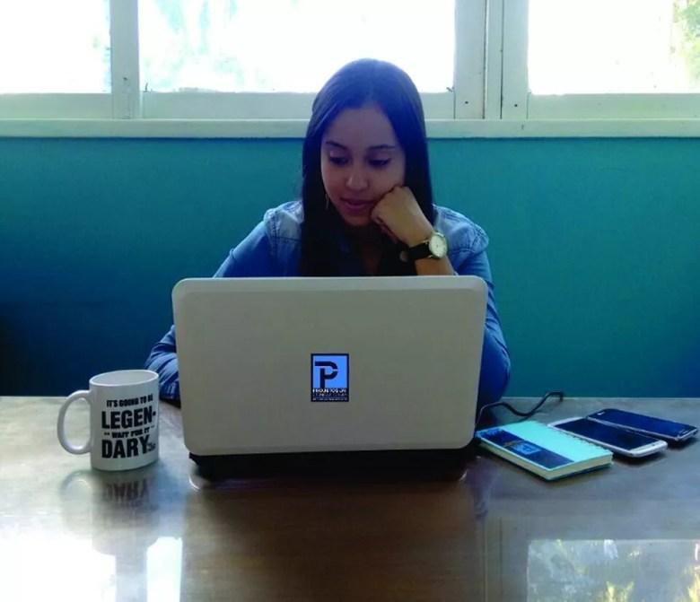 Para Maria, ter liberdade para tomar decisões deixa os integrantes da Empresa Júnior mais seguros para enfrentar o mercado (Foto: Arquivo Pessoal)