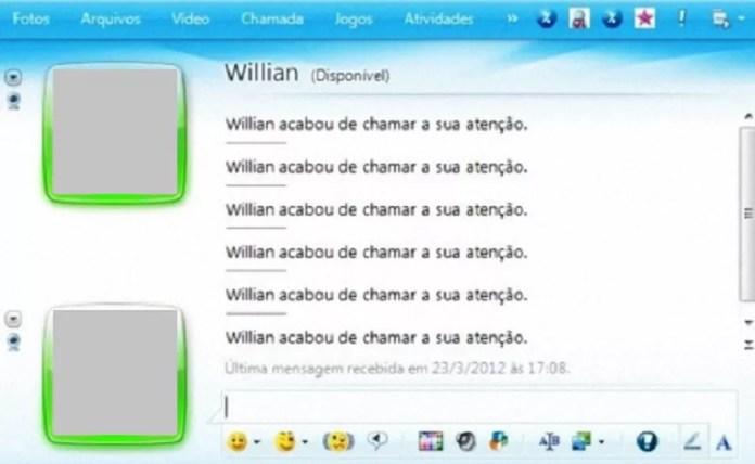 A janela tremia para chamar a atençao — Foto: Divulgação/MSN