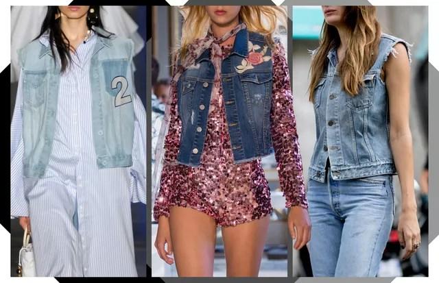 Colete jeans (Foto: Arte Vogue Online)