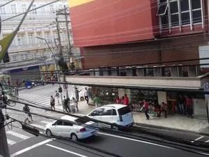 Imagem mostra lojas do Centro fechadas (Foto: Divulgação/CDL-Manaus)