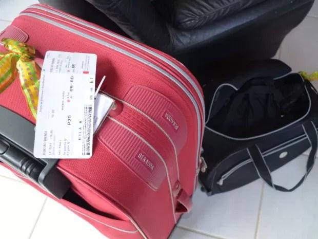 Malas de viagem para a Argentina que não ocorreu (Foto: Suzana Amyuni/G1)