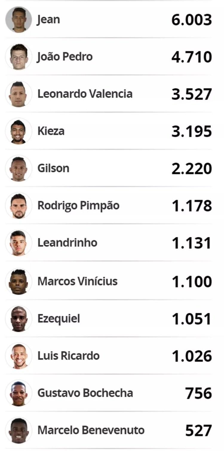 Votação da enquete do Botafogo (Foto: GloboEsporte.com)