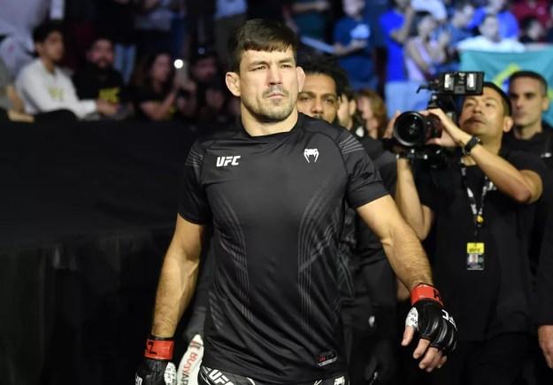 Demian Maia encerrou seu contrato com o UFC no último 12, quando perdeu para Belal Muhammad — Foto: Jeff Bottari/Zuffa LLC