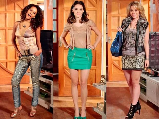 Empreguetes arrasaram no novo look (Foto: Cheias de Charme / TV Globo)