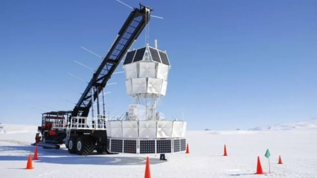 O projeto ANITA também explora neutrinos na Antártida — Foto: Anita