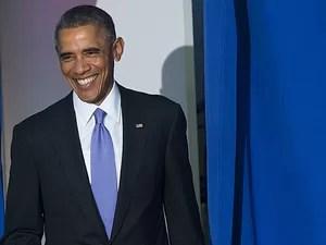 Obama durante evento em que assinou as medidas para reforçar a segurança nas operações do sistema financeiro dos Estados Unidos (Foto: Saul Loeb/AFP)