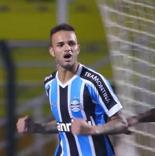 Luan Grêmio Palmeiras Campeonato Brasileiro Brasileirão gol (Foto: Reprodução/Sportv)