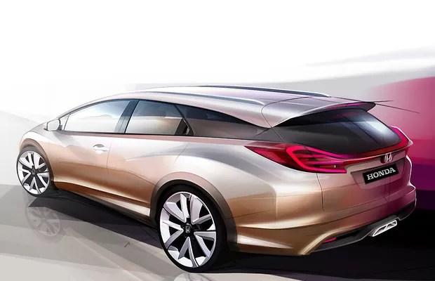 Civic Wagon será principal atração da Honda no Salão de Genebra (Foto: Divulgação)
